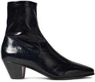 Maje Faux Stretch-leather Ankle Boots