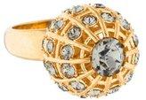 Alexander McQueen Crystal Sphere Ring