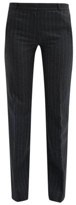 Pallas X Claire Thomson Jonville X Claire Thomson-jonville - Fulham Chalk-striped Wool Straight-leg Trousers - Womens - Grey Multi