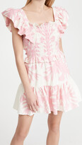 Thumbnail for your product : Sea Henrietta Print Short Sleeve Smocked Dress