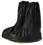 SAGUARO Reusabe Waterproof Rain Shoes Cover 2 Side Zippers Rain Boots Fat Overshoes Rain Gear for Motorcyce/Bicyce/Riding