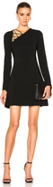 Cushnie et Ochs Winona Long Sleeve Fit & Flare Dress in Black.