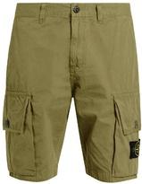 Stone Island Logo-patch Cotton Cargo Shorts