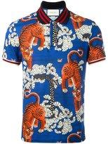 Gucci Bengal print polo shirt - men - Cotton/Spandex/Elastane - S