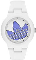 adidas Women's 'Aberdeen' Quartz Plastic and Silicone Casual Watch, Color:White (Model: ADH3144)