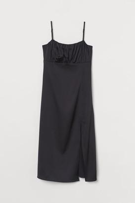 H&M Slit-front Dress - Black