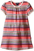 Toobydoo Short Sleeve Dress w/ Grey/Pink/Navy (Infant/Toddler)