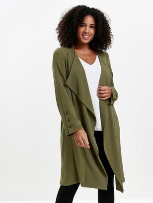 Evans Longline Jacket - Khaki