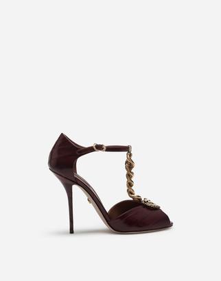 Dolce & Gabbana Devotion Sandals In Eel