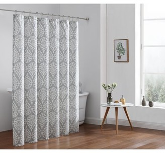 Freshee Fabric Shower Curtain, Solid White - Featuring Intellifresh Technology