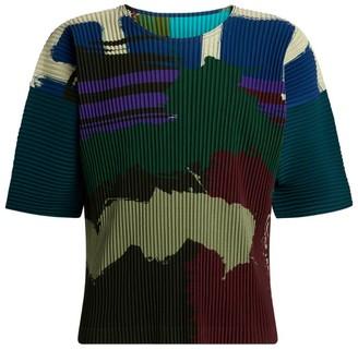 Homme Plissé Issey Miyake Colour-Block Plisse Shirt