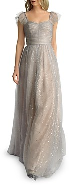 Basix II Glitter Fit-and-Flare Gown