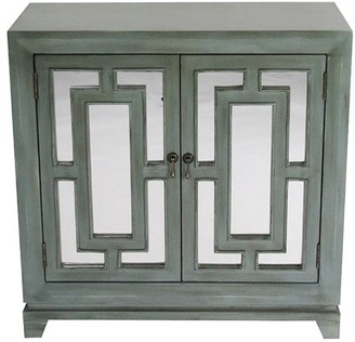 URBAN RESEARCH Homeroots 32' French Blue Mirrored Glass Sideboard with 2