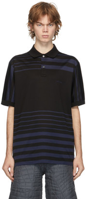 Paul Smith Black Horizontal Striped Polo