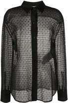 Jil Sander sheer lace shirt