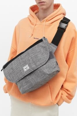 Herschel Grade Mid-Volume Raven Messenger Bag - Grey ALL at Urban Outfitters