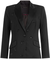 Diane von Furstenberg Wool Blazer with Beaded Embellishment