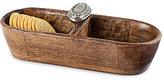 Mud Pie Circa Wood & Metal Collection Mango Wood Door Knob Sectioned Server