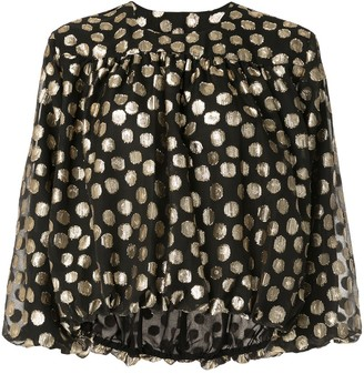 CK Calvin Klein bubble pattern embroidered blouse
