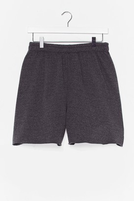 Nasty Gal Womens Pit Stop Relaxed Jogger Shorts - Grey - 6