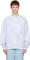 Acne Studios Purple Yana Bleach Sweatshirt