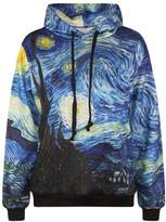 Imilan Sports Women Neon Galaxy Cosmic Hooded Sweatshirts Sweaters (Large/X-Large, )