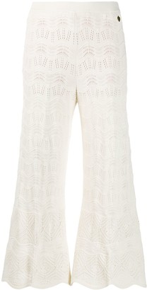 Twin-Set Embroidered Flared Trousers