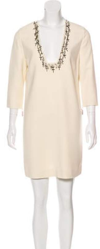 Thomas Wylde Embellished Shift Dress silver Embellished Shift Dress