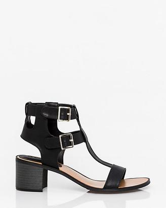 Le Château Faux Leather Open Toe T-Strap Sandal