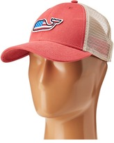 Vineyard Vines Flag Whale Patch Trucker Hat Caps