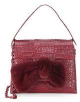 Nancy Gonzalez Crocodile & Mink Fur Shoulder Bag