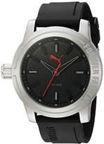 Puma Quartz Stainless Steel and Polyurethane Watch, Color:Black (Model: PU103991001)