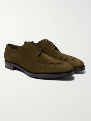 Edward Green Dover Textured-Leather Derby Shoes - Men - Green