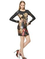 Roberto Cavalli Printed Viscose Jersey Dress