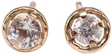 Lily Flo Jewellery Pale Pink Sapphire Stud Earrings On Solid Gold