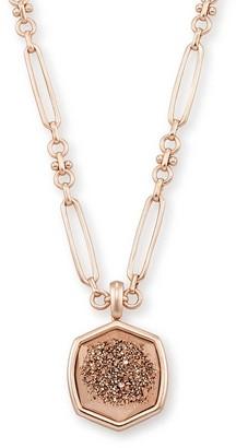 Kendra Scott Davis Rose Gold Pendant Necklace