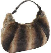 Brown Faux Fur Large Hobo