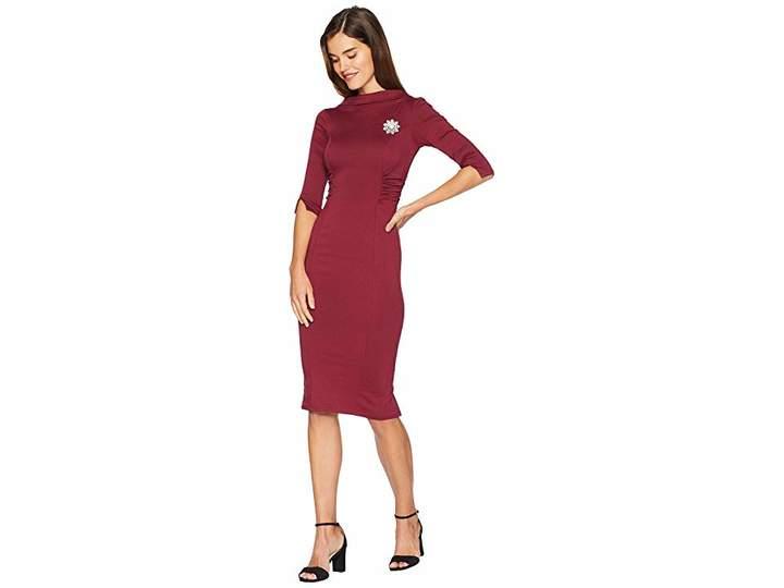 Unique Vintage 1960s Stretch Sleeved Lucinda Wiggle Dress