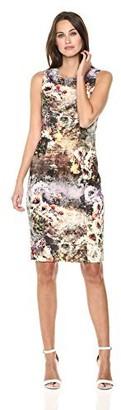 Nicole Miller Women's Printed Sleeveless Sheath Dress