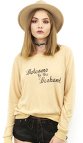 Brokedown Welcome To The Weekend Top in Mustard