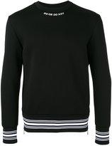 Neil Barrett contrast trim sweatshirt - men - Polyurethane/Viscose - M