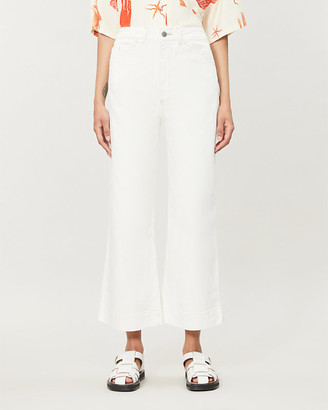AG Jeans Rosie wide-leg high-rise stretch-denim jeans