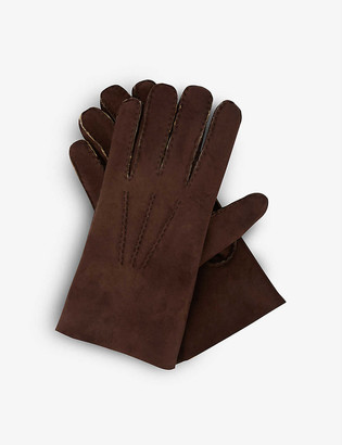 Eleventy Leather and shearling gloves