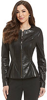 Antonio Melani Fine Leather Wren Peplum Jacket