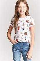 Forever 21 Girls Food Graphic Tee (Kids)