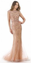Morrell Maxie Fully Embellished High Neck Cap Sleeve Evening Dress