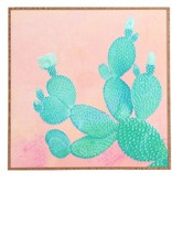 DENY Designs Pastel Cactus Framed Wall Art