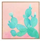 DENY Designs Pastel Cactus Framed Wall Art