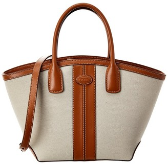 Tod's Canvas & Leather Tote