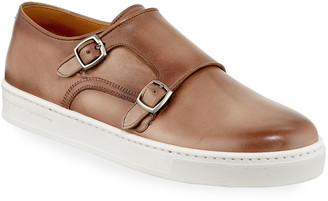 Magnanni Double-Monk Leather Sneakers